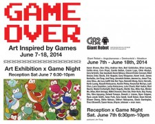 Game Night 21 X GAME OVER – Art Inspired by Games